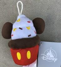 Disney Mickey Mouse Cupcake Stuffed Micro Plush Toy Christmas Ornament -... - $3.95