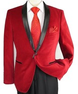 Mens Adolfo Velvet Dinner Jacket Shawl Satin Stage singer 3016J Christma... - $59.97