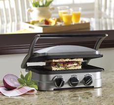 Cuisinart Cooking Griddler Grill Burger Toast Breakfast Maker Sandwich P... - £95.27 GBP