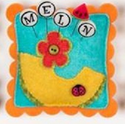 M Is For Melon JP187 set 5 for pincushions JABC Just Another Button Co