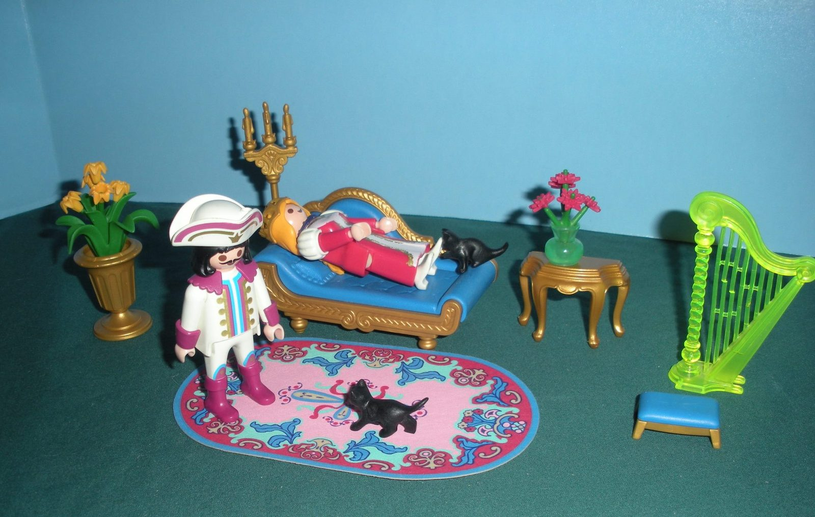 Vintage Playmobil Fairy Tale Castle #3022 Royal Salon 99.9% Comp/NR MT (ret)!