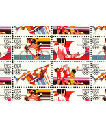 C109-12a Complete Sheet of 50 1984 Olympics 35 Cent Airmail Stamps - Stu... - $25.95