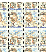 C95-96a Complete Sheet of 100 Wiley Post 25 Cent Airmail Stamps - Stuart... - $75.00
