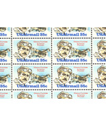 C100 Complete Sheet of 50 Glenn Curtis 35 Cent Airmail Stamps - Stuart Katz - $23.95