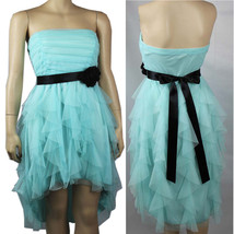 Hi-Low Ruffle Tube DRESS w/ Tie,Lining,Pleated,Stretchy Mesh Party Dress... - $32.99