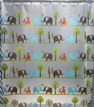 Elephant Cute Cartoon Design Jungle Design 180 x 200 cm Bathroom SHOWER ... - $26.99
