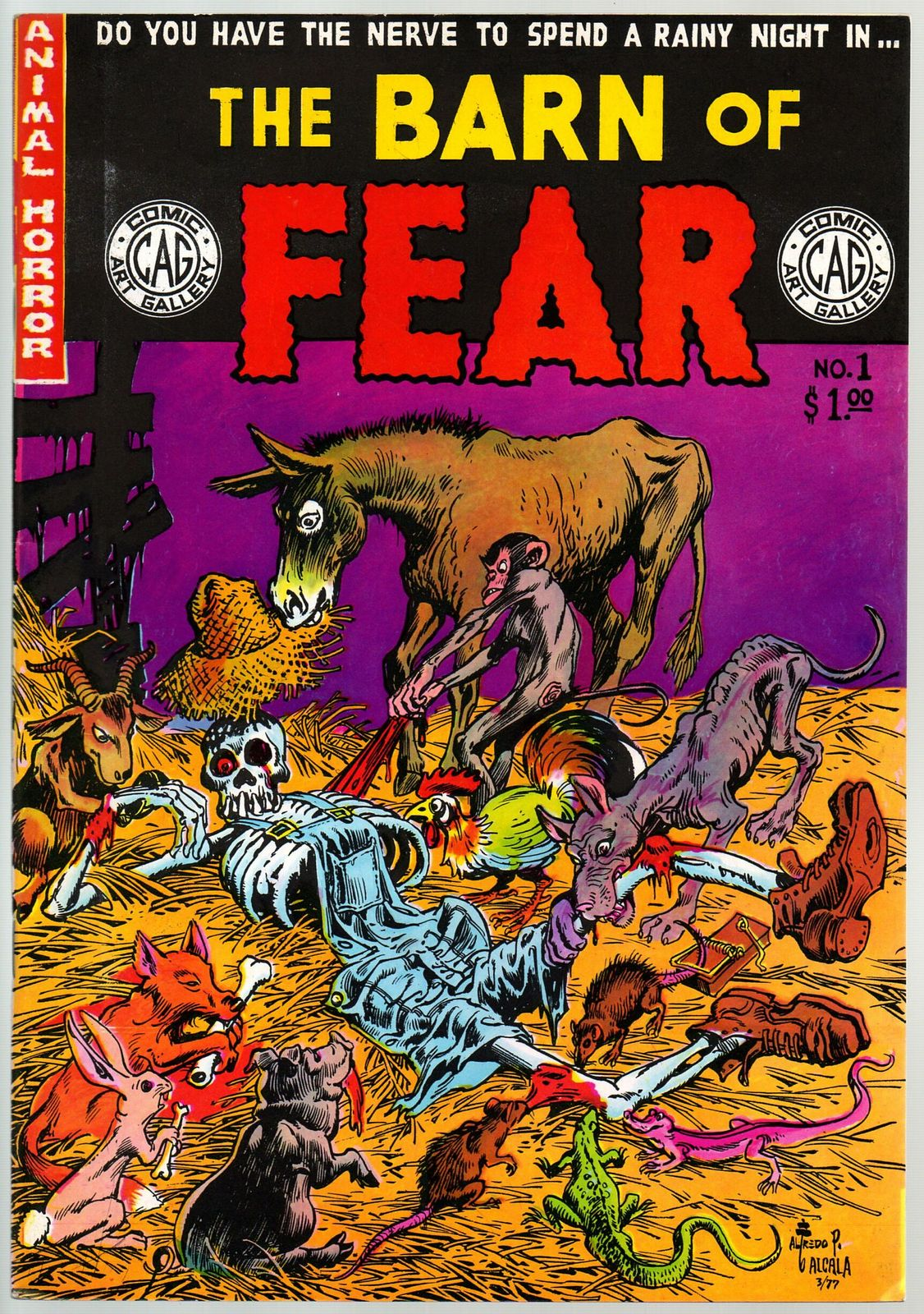 Barn Of Fear 1978 underground comix, Alfredo Alcala, Larry Todd,Scott Shaw more