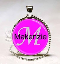 Handmade Makenzie Name Monogram Glass Dome Necklace Pendant (NPD4515) - $10.99