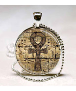 Egyptian Ankh Eternal Life Symbol Glass Dome Jewelry Necklace Pendant (P... - $10.99