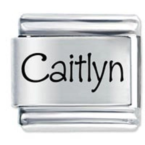 Primary image for 9mm Caitlyn Laser Name Italian Charm ( P )  (LN0655)