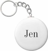 2.25 Inch Jen Name Button Keychain - $3.25