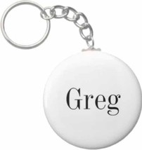 2.25 Inch Greg Name Button Keychain - $3.25