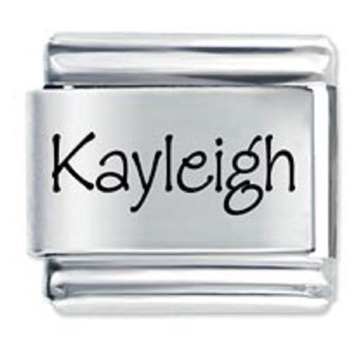 9mm Kayleigh Laser Name Italian Charm ( P )  (LN2065)