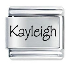 9mm Kayleigh Laser Name Italian Charm ( P )  (LN2065) - $3.25