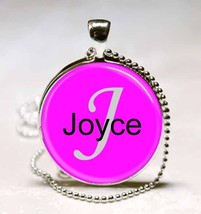 Handmade Joyce Name Monogram Glass Dome Necklace Pendant (NPD3001) - $10.99