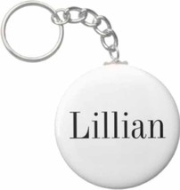 2.25 Inch Lillian Name Button Keychain - $3.25