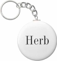 2.25 Inch Herb Name Button Keychain - $3.25