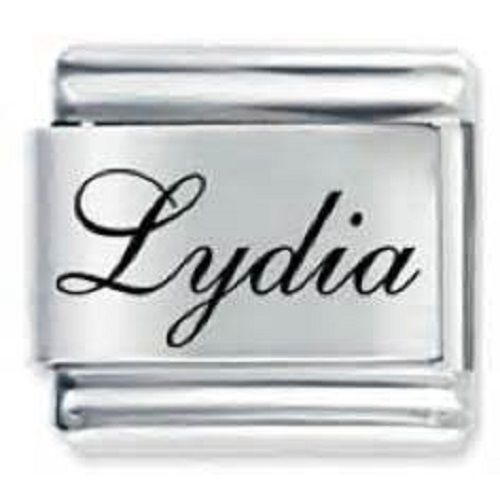 Primary image for 9mm Lydia Laser Name Italian Charm ( F ) (LN2496)