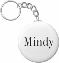 2.25 Inch Mindy Name Button Keychain - $3.25