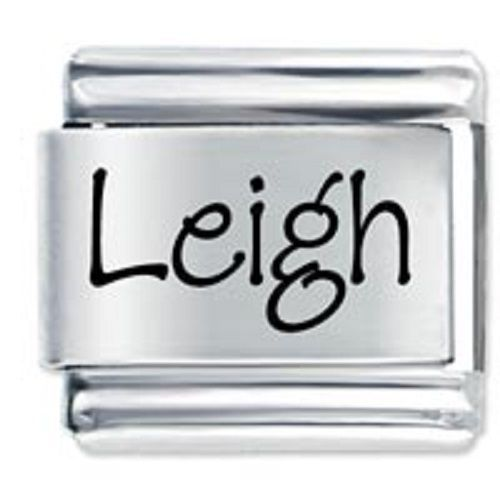 9mm Leigh Laser Name Italian Charm ( P ) (LN2345) image 1