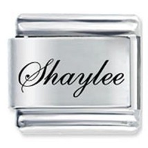 9mm Shaylee Laser Name Italian Charm ( F )  (LN3325) - $3.25