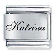9mm Katrina Laser Name Italian Charm ( F ) (LN2043) - $3.25