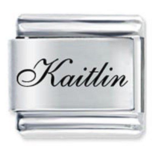 9mm Kaitlin Laser Name Italian Charm ( F ) (LN1925)