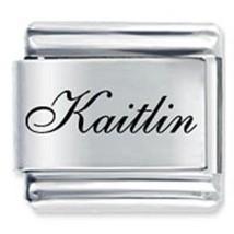 9mm Kaitlin Laser Name Italian Charm ( F ) (LN1925) - $3.25