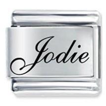 9mm Jodie Laser Name Italian Charm ( F ) (LN1806) - $3.25