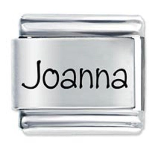 Primary image for 9mm Joanna Laser Name Italian Charm ( P )  (LN1797)