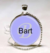 Handmade Bart Name Monogram Glass Dome Necklace Pendant (NPD0307) - $10.99