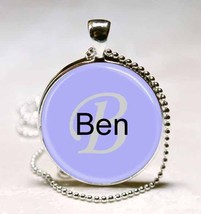Handmade Ben Name Monogram Glass Dome Necklace Pendant (NPD0314) - $10.99
