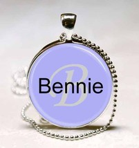 Handmade Bennie Name Monogram Glass Dome Necklace Pendant (NPD0316) - $10.99