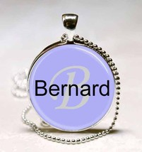 Handmade Bernard Name Monogram Glass Dome Necklace Pendant (NPD0319) - $10.99