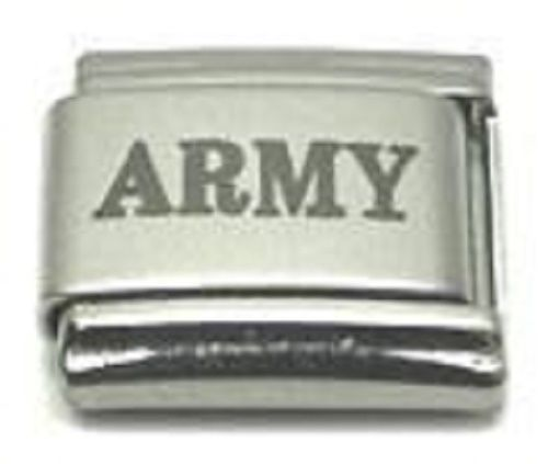 9mm Army Military Laser Italian Charm (LA0092)