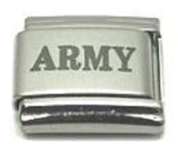 9mm Army Military Laser Italian Charm (LA0092) - $2.50