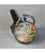 The Birth of Venus Roman Goddess Botticelli Art Glass Dome Keychain (GDK... - $10.99