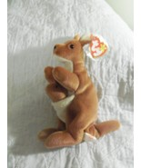 Ty Beanie Baby Pouch the Kangaroo MWMT 1996 with baby Tag Protector - $5.00