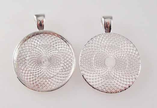 Handmade Blanca Name Monogram Glass Tile Necklace Pendant image 2
