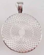 Handmade Delilah Name Monogram Glass Dome Necklace Pendant (NPD1038) image 2