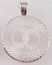 Handmade Elizabeth Name Monogram Glass Dome Necklace Pendant (NPD1420) image 2