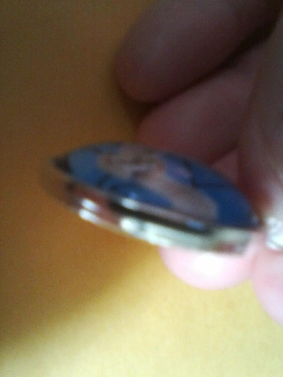 Handmade Elizabeth Name Monogram Glass Dome Necklace Pendant (NPD1420) image 3