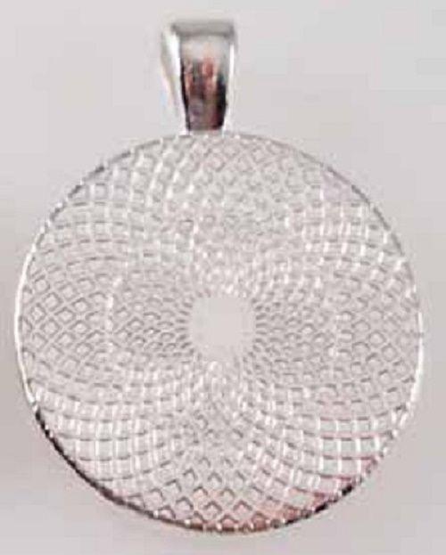 Handmade Bernard Name Monogram Glass Dome Necklace Pendant (NPD0319) image 2