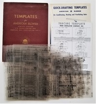 vintage AMERICAN BLOWER plastic QUICK-DRAFTING TEMPLATES reduce labor fo... - $124.95
