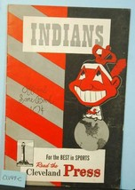 1947 Cleveland Indians Baseball Program v Detroit Tigers Unscored CLV49C - $48.51