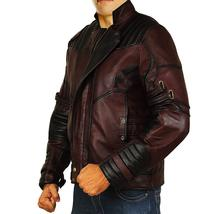 Guardians Galaxy Vol 2 Star Lord Chris Biker Peter Quill Maroon Leather Jacket image 3