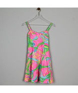 Lilly Pulitzer So a Peeling Willow Dress Bright Lion Elephant Fit Flare ... - $89.09