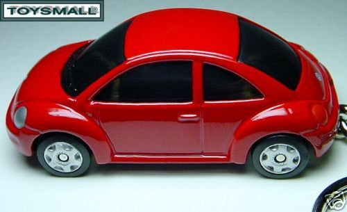 KEY CHAIN RING 98~2009 RED VW NEW BUG BEETLE VOLKSWAGEN - $38.98