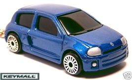 Rare Porte Clé Cle clés cles Renault Clio V6 Bleu  - $24.98