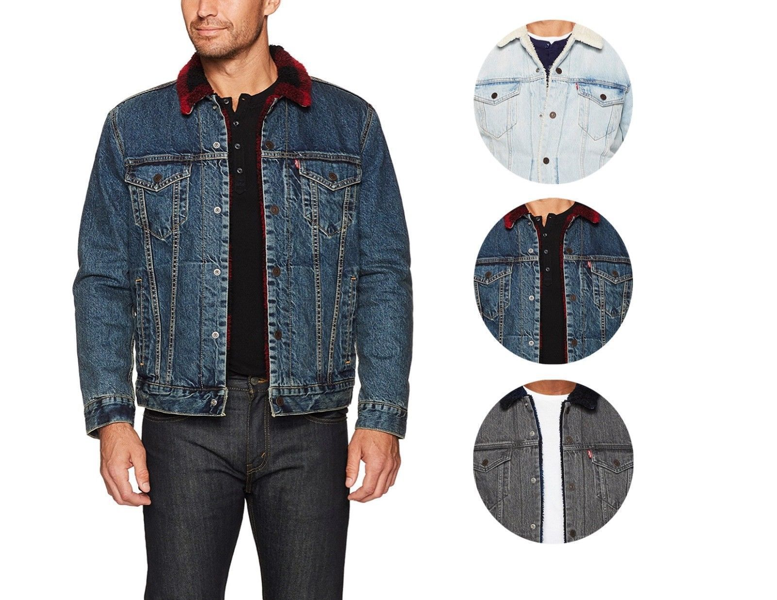 Levi's Men's Classic Button Up Cotton Sherpa Trucker Jacket